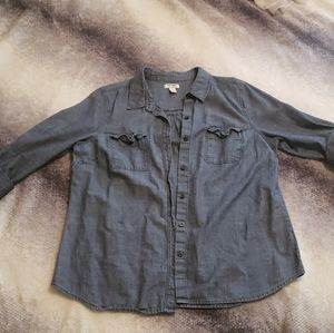 Old Navy Jean Button Up